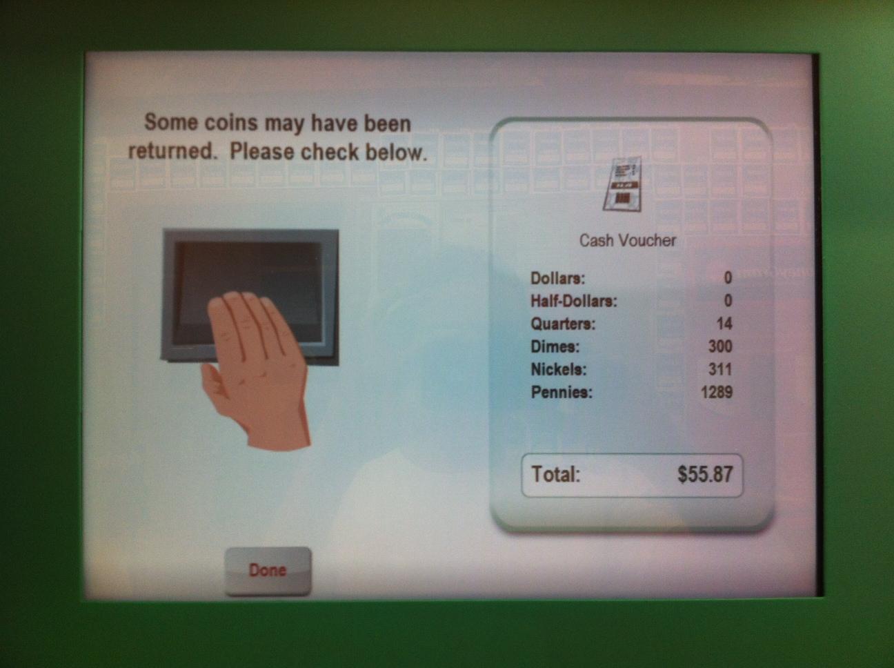 coinstar machine fee