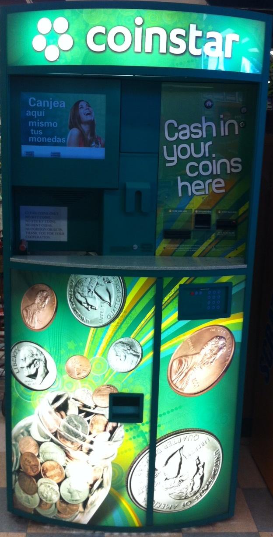 fee for coinstar machine