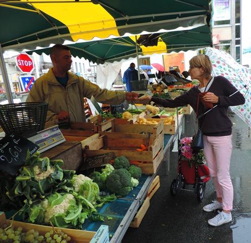 Market day in the Rain