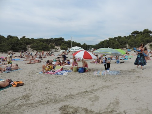 sandy beach near Marseille