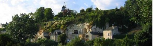 Turquant, France - Troglodyte cave houses